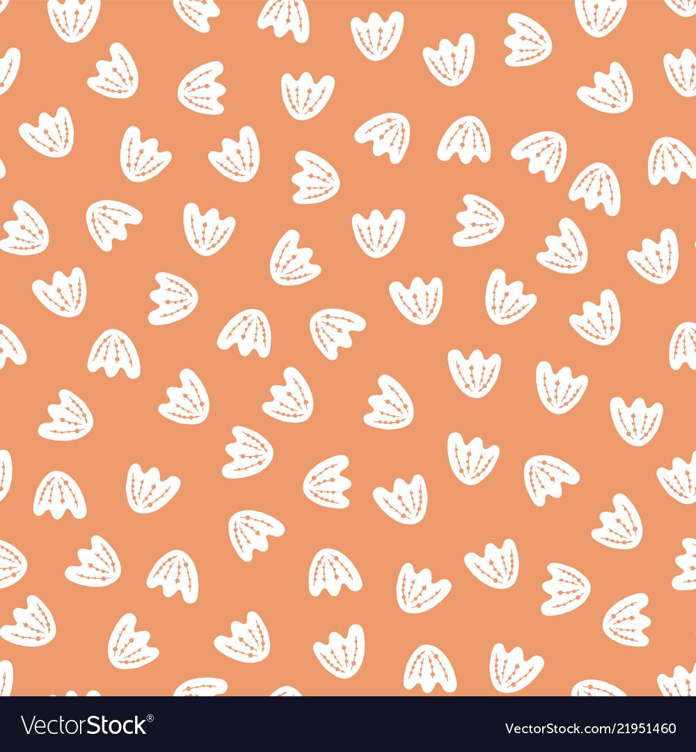 Seamless abstract flower petal pattern