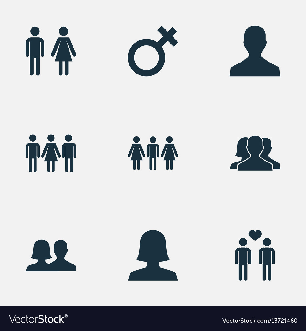 Set of simple lovers icons