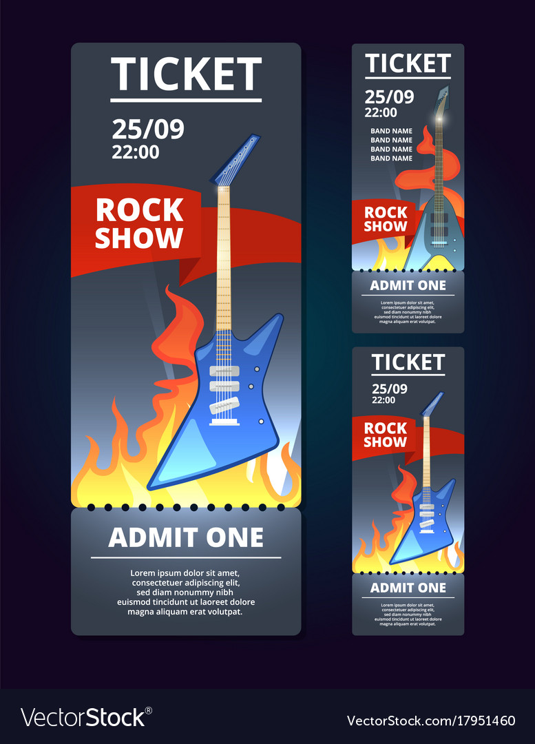 Ticket design template of music event poster