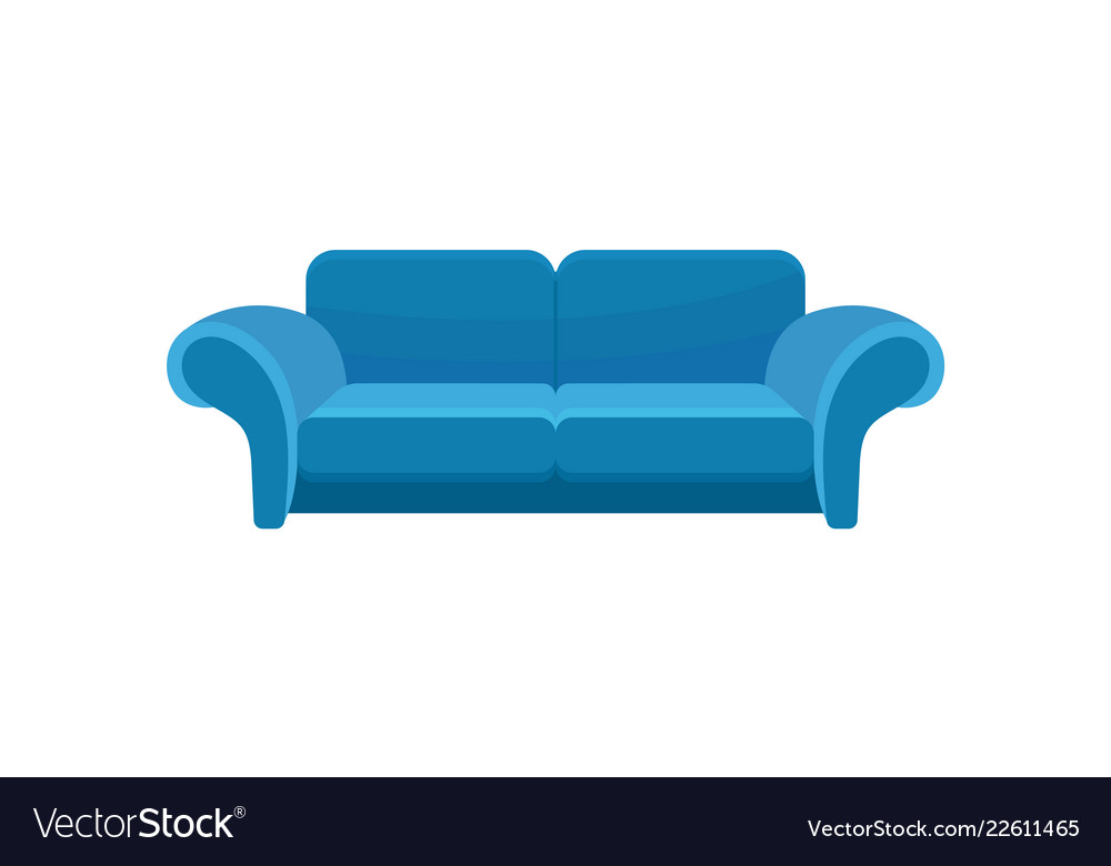 Blue Comfortable Sofa Couch Living Room