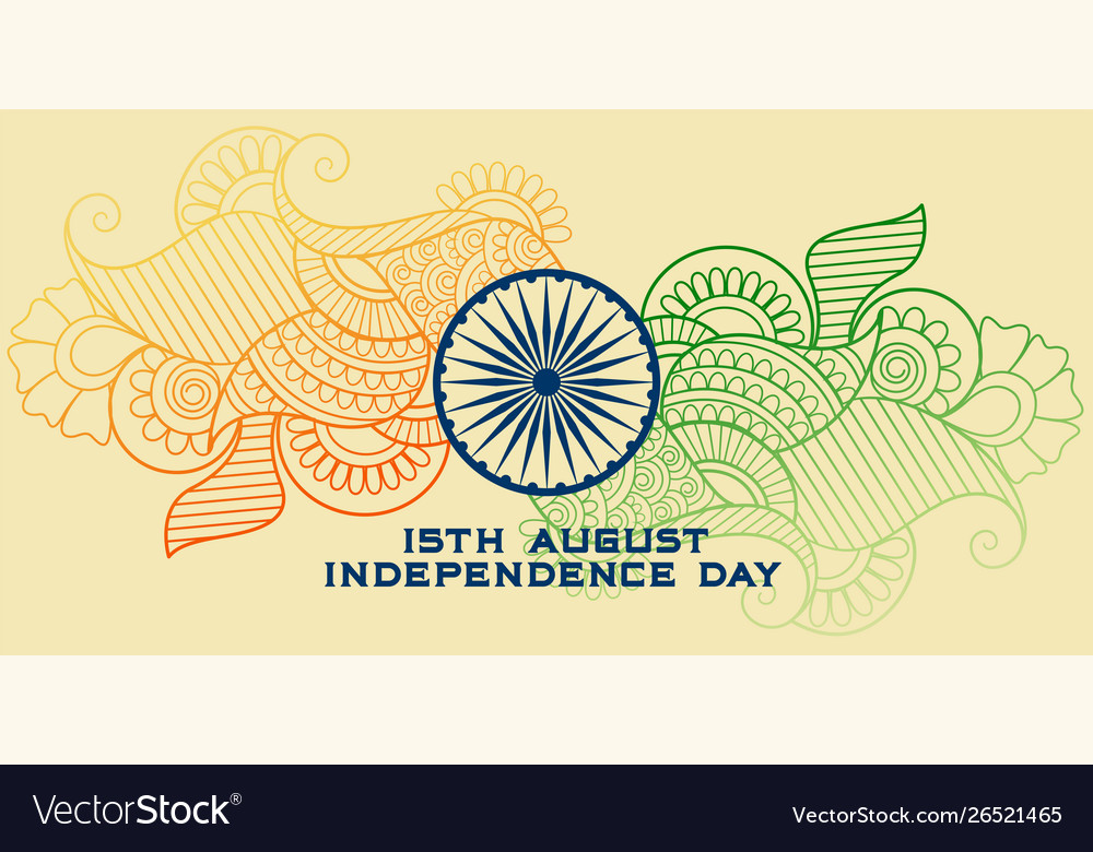 Creative indian flag in paisley style