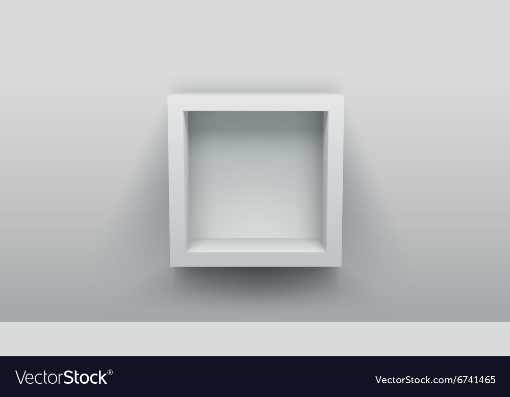 Empty box shelf