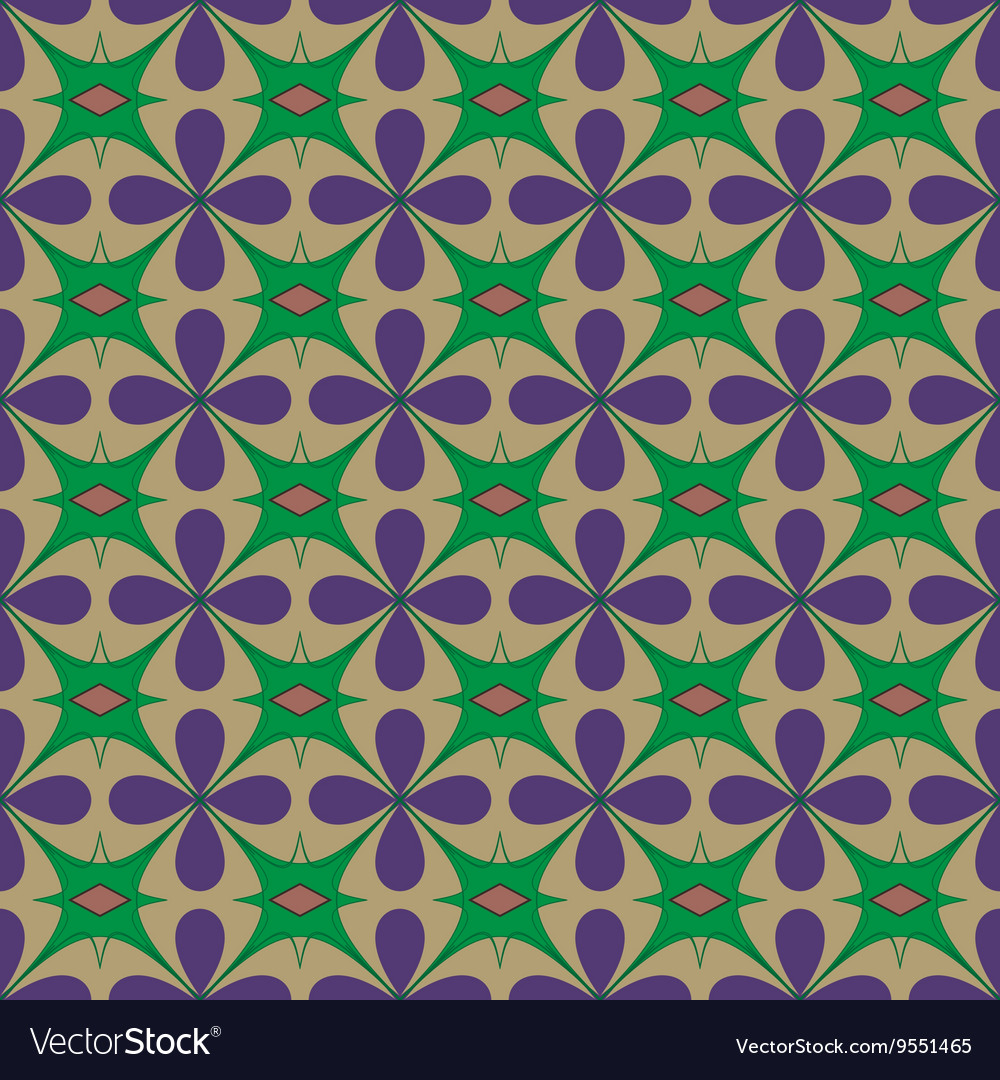 Flower abstract seamless pattern