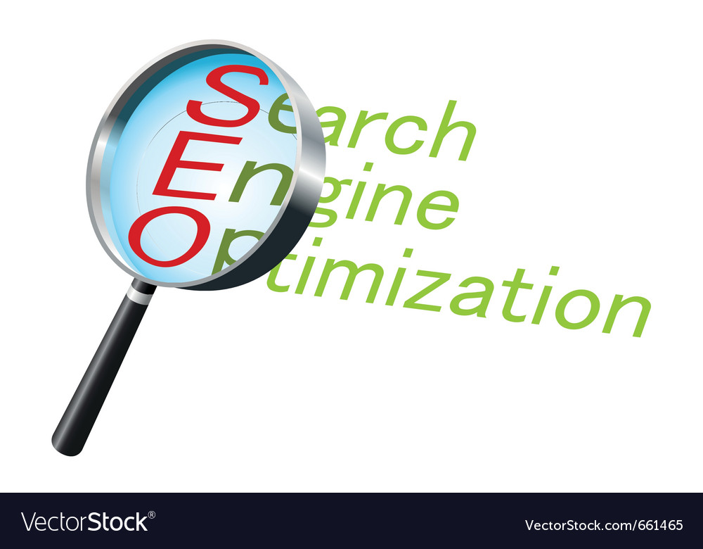 Magnifying glass text label search vector