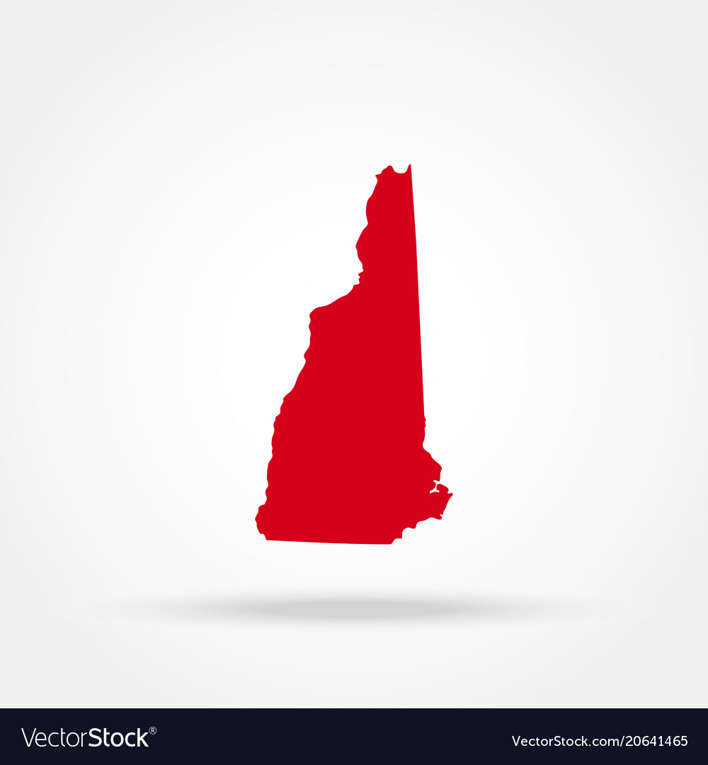 Map of the us state of new hampshire