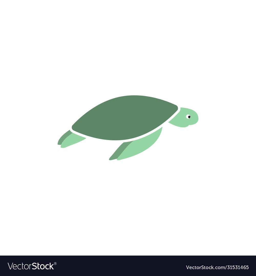 Sea turtle graphic design template isolated