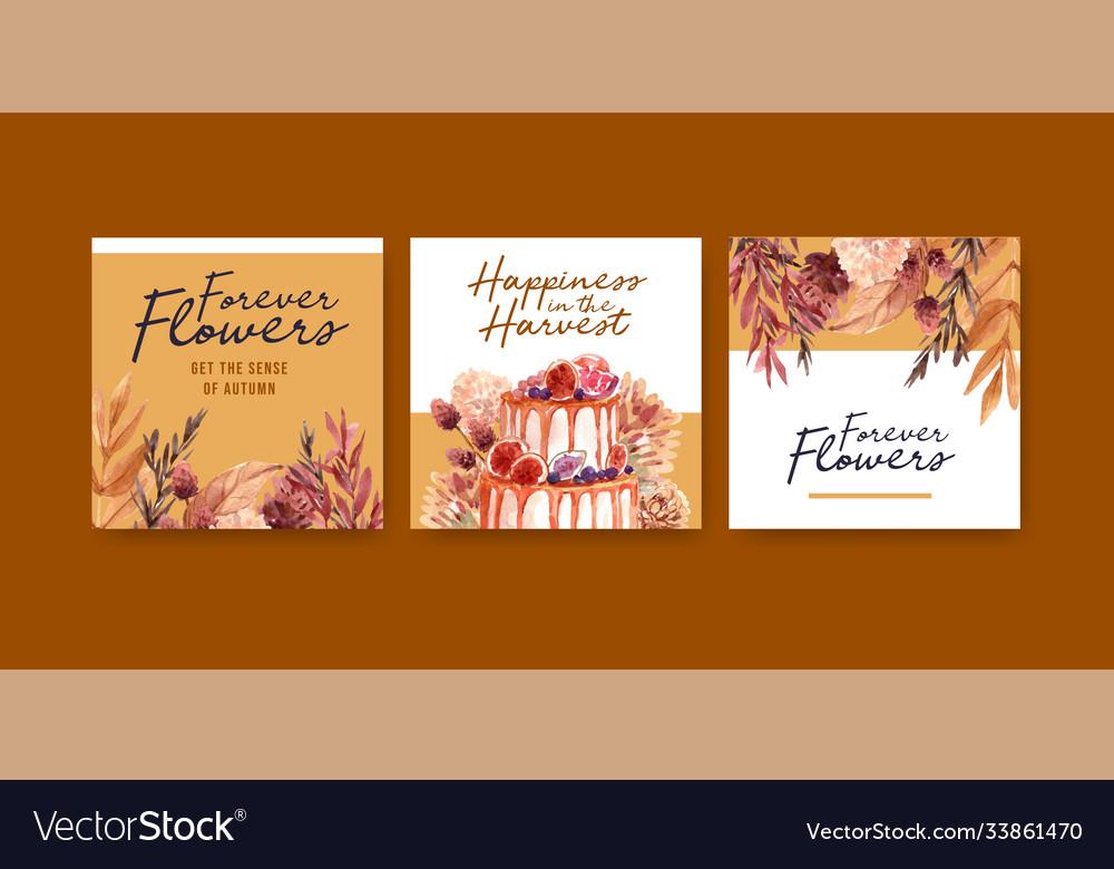 Autumn flower concept design for advertising