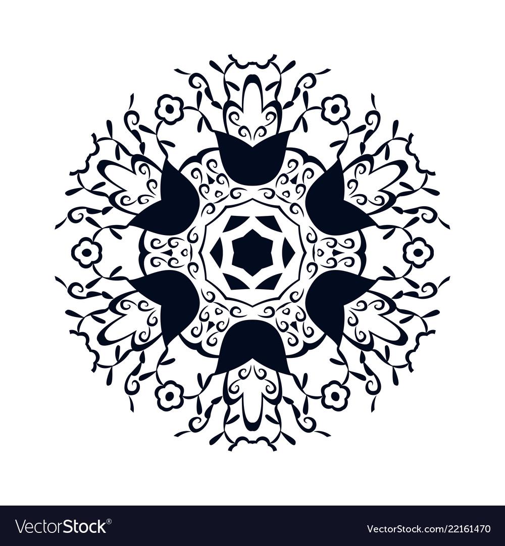 Beautiful vintage circular pattern of indian