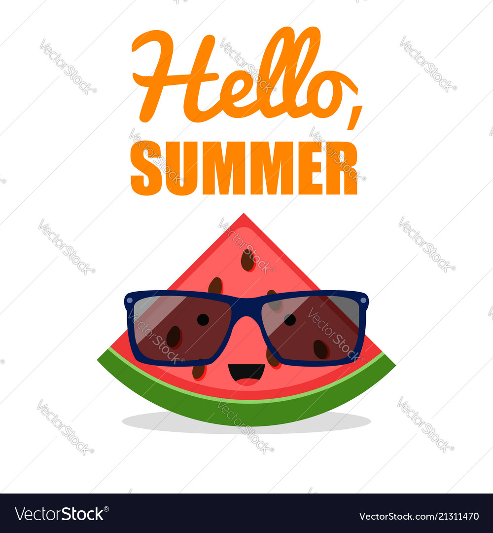 Comic watermelon sunglasses fruit character