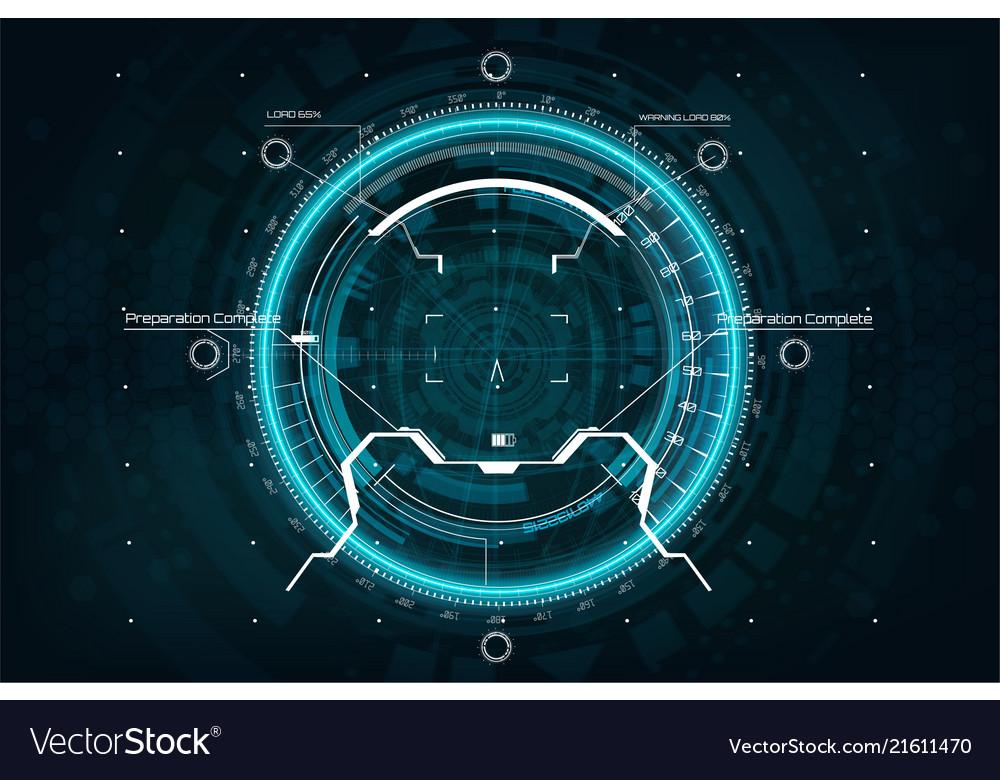 Crosshair in futuristic style gui aim