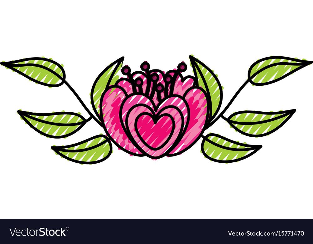 Elegant flower decorative icon