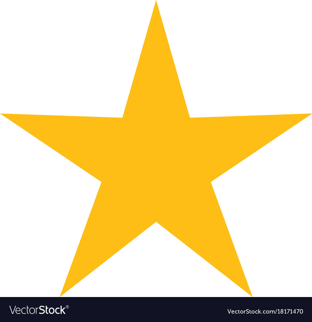 Isolated yellow star icon ranking mark