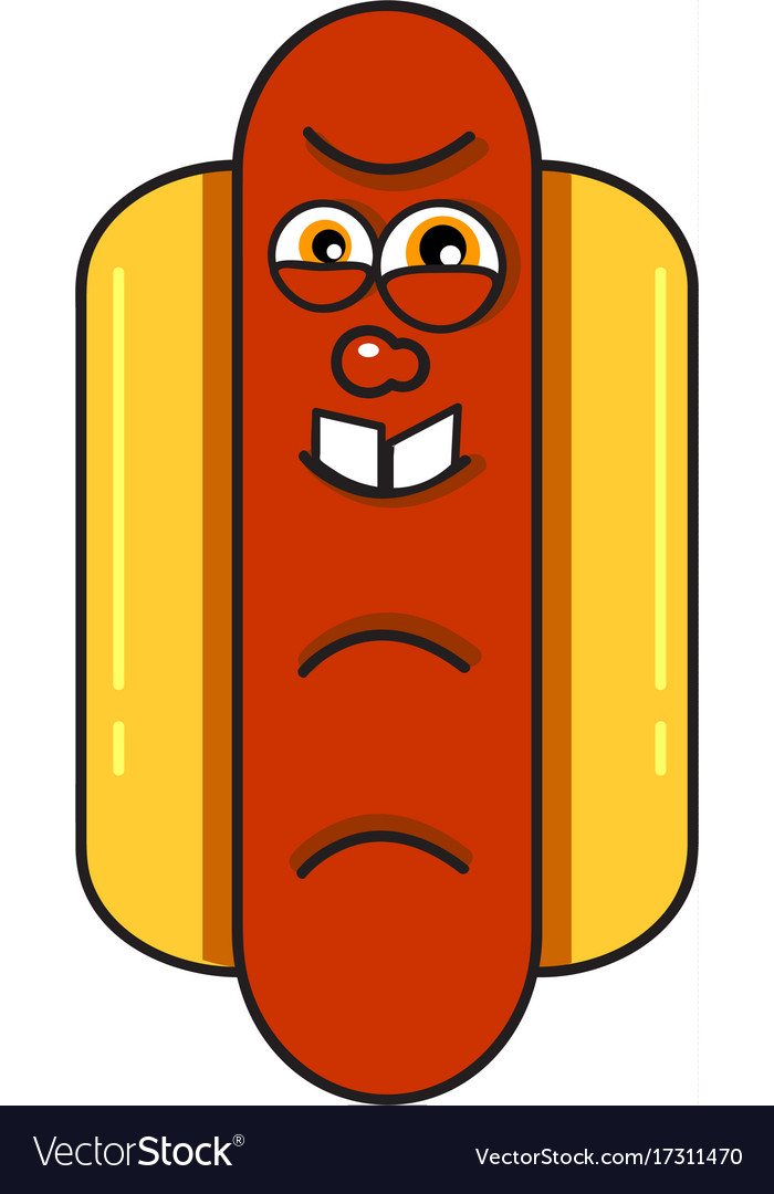 Monster hotdog vector image