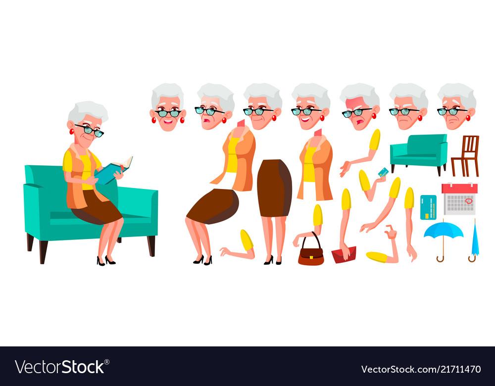 Old woman senior person portrait elderly