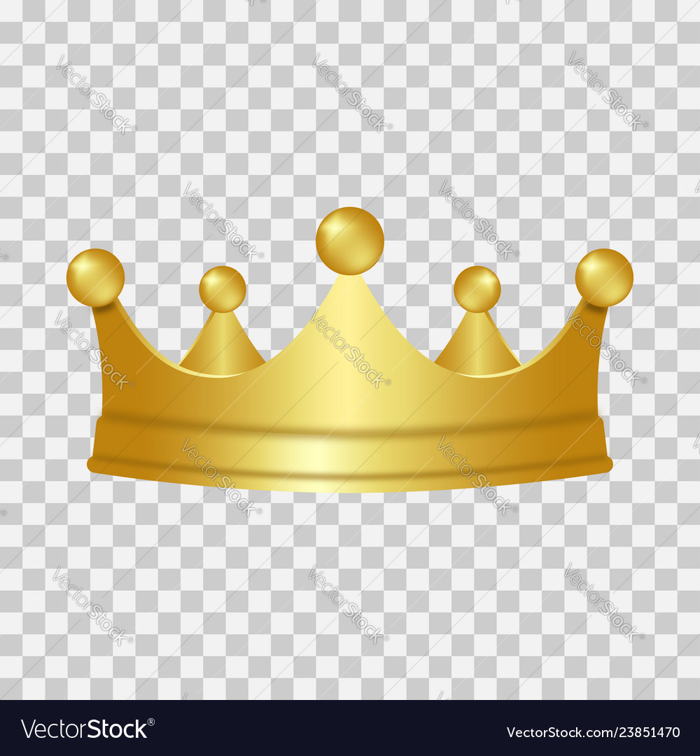 Realistic gold crown 3d golden crown isolated on