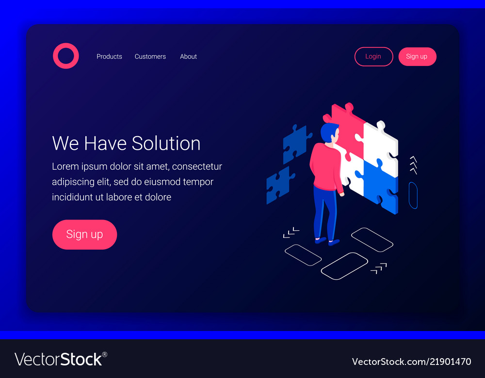 Solutions isometric concept