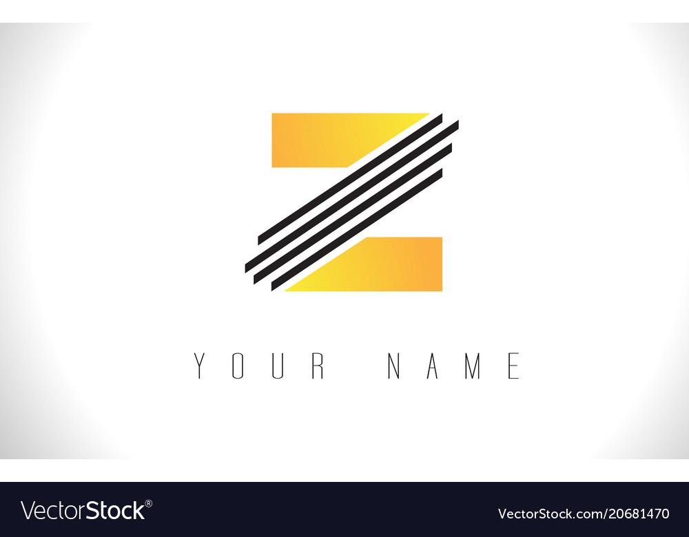 z black lines letter logo creative line letters vector image