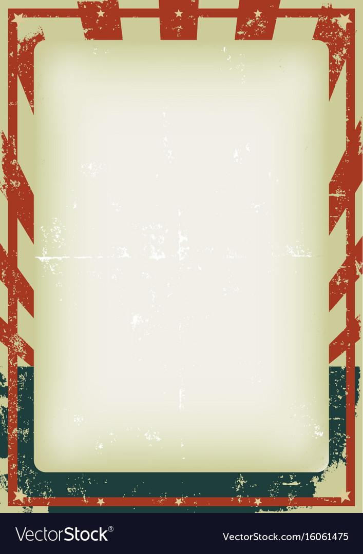 Fourth of july vintage poster vector image