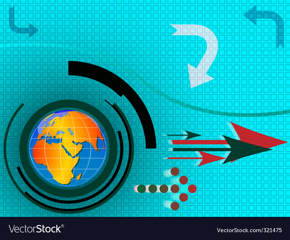 Hi tech abstract template vector image