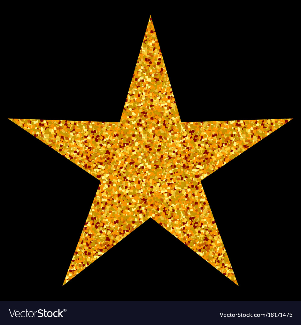 Isolated gold and yellow star icon ranking mark vector image