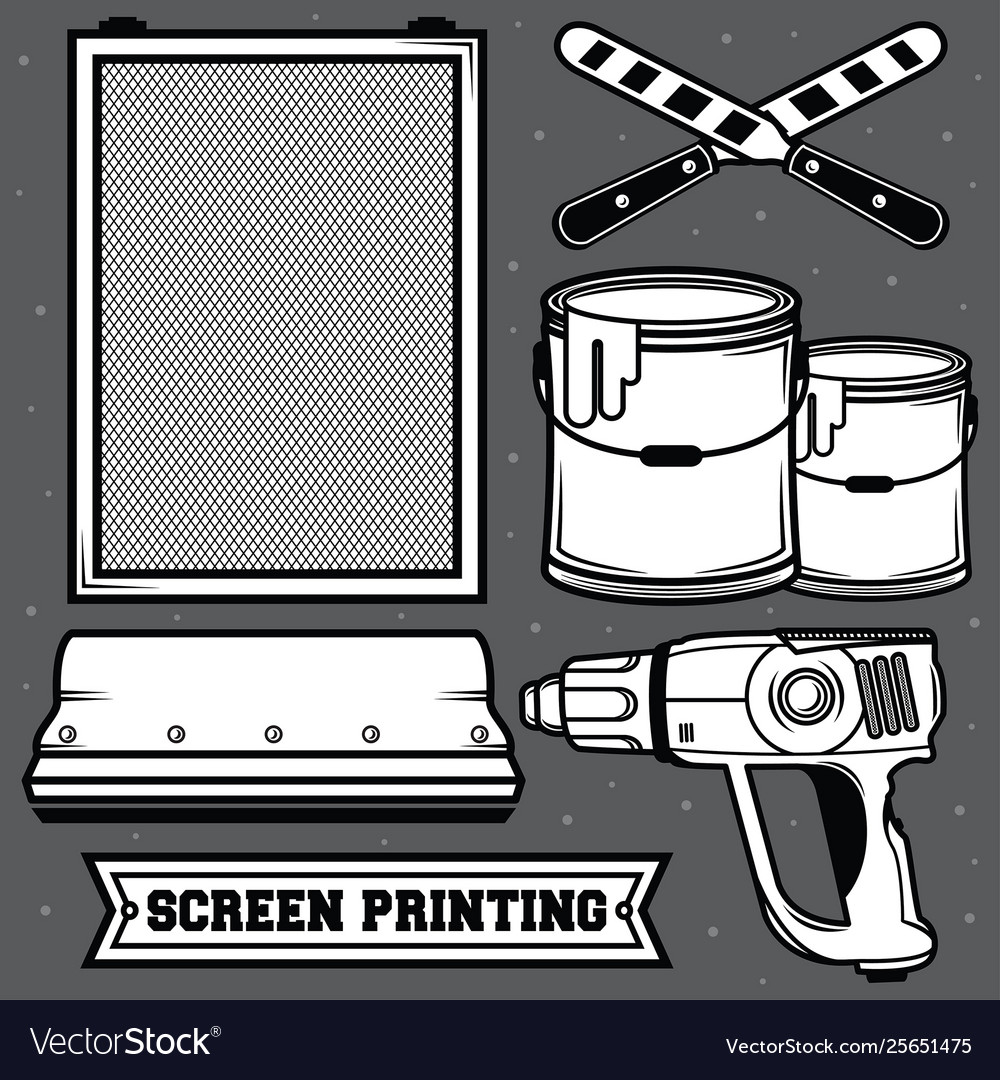 Set screen printing icon