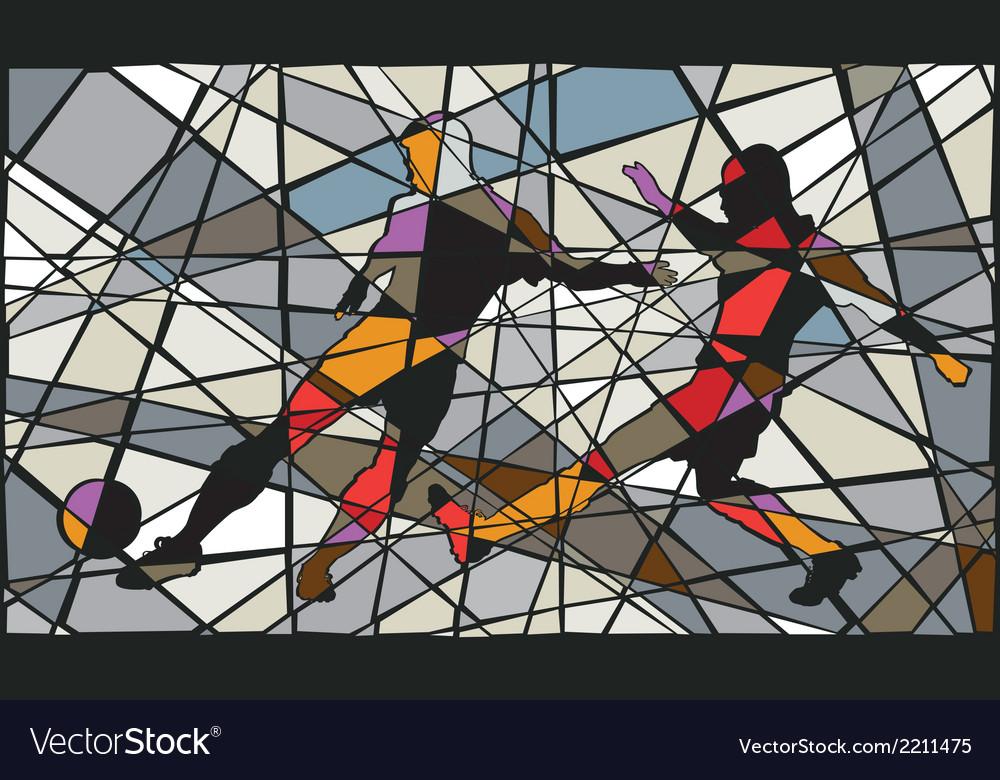 Soccer mosaic vector image