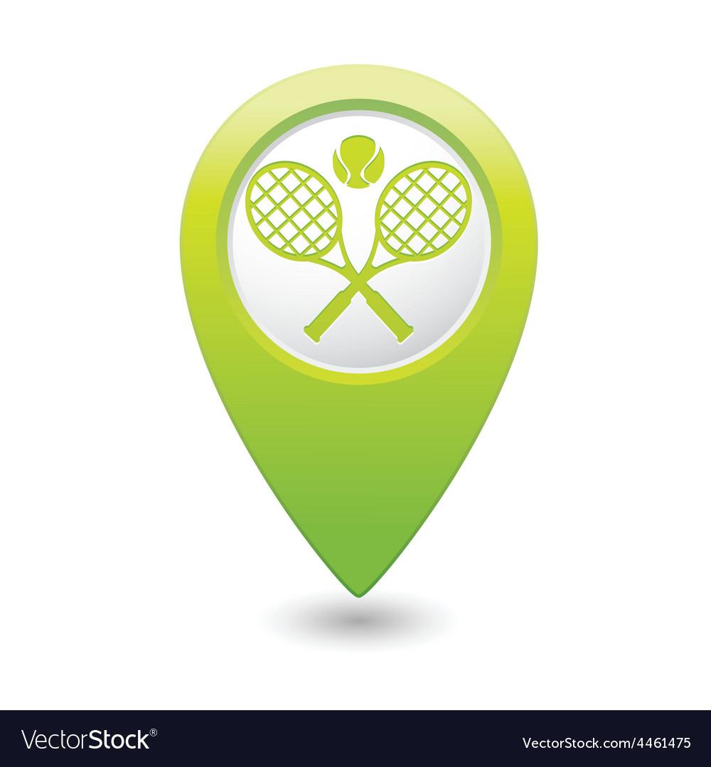 Tennis GREEN map pointer