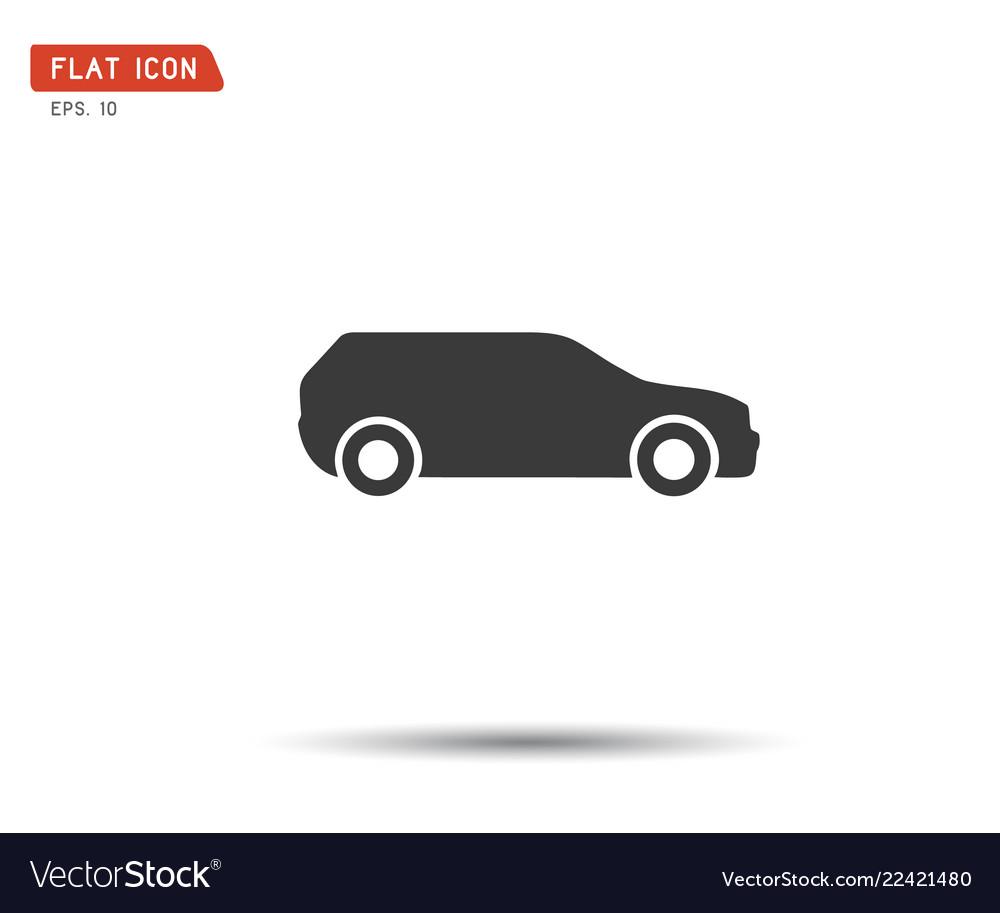 Car icon flat logo