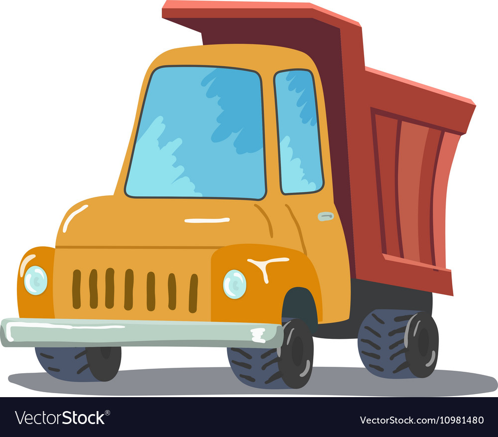 Cartoon Truck isolated on white background vector image