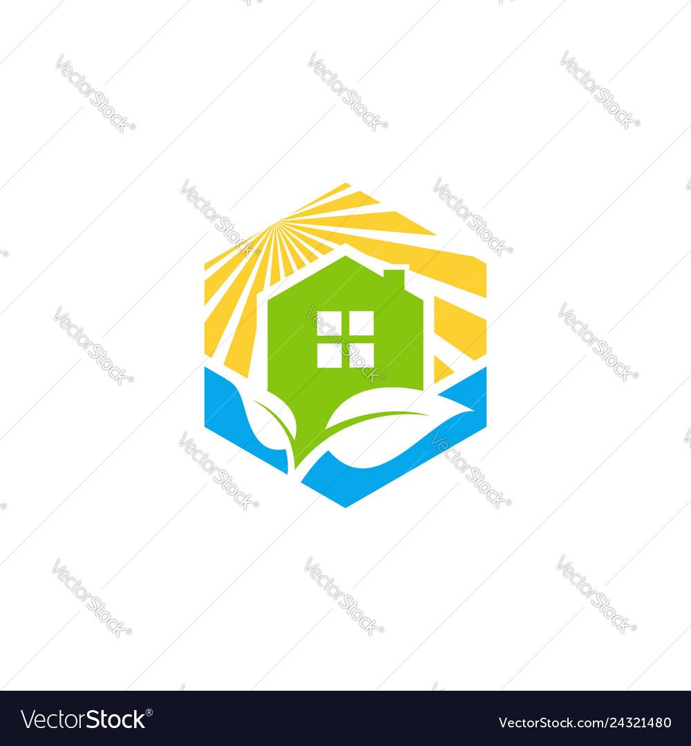 Cube home real estate logo symbol icon design