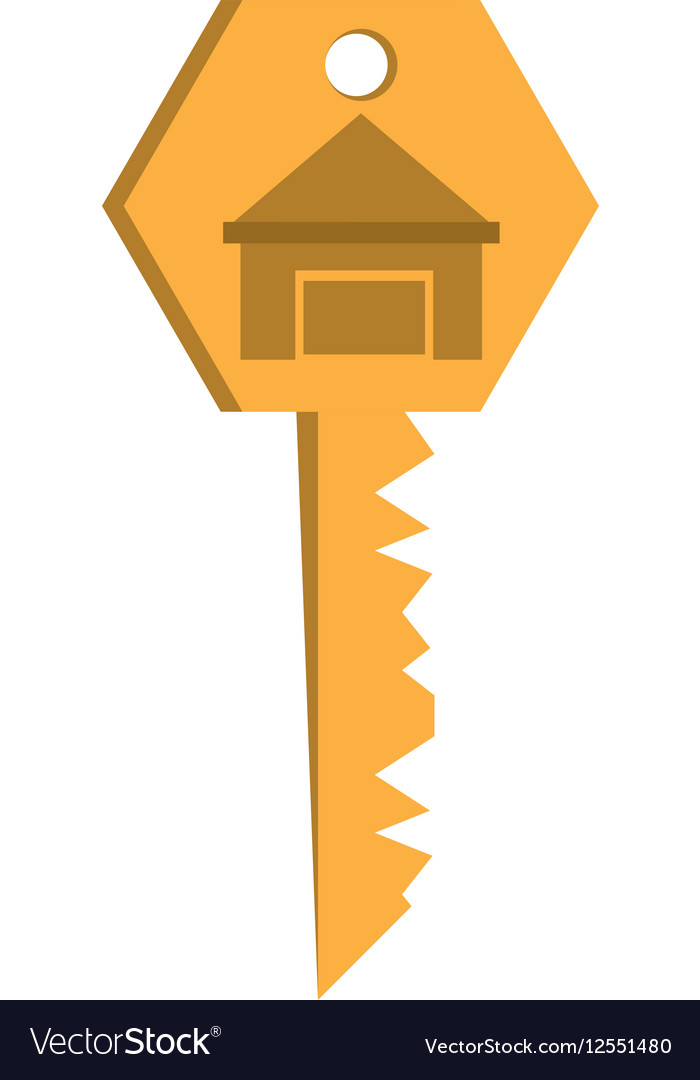 House key real estate buy vector image