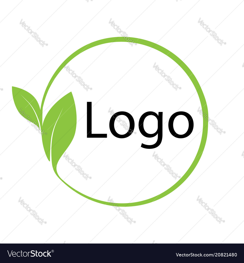 Logo symbol environmental friendly template eco