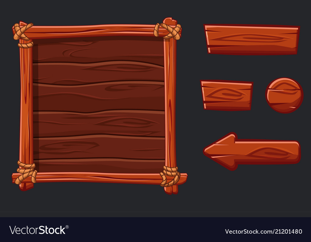 Set red wood assets interface and buttons for ui