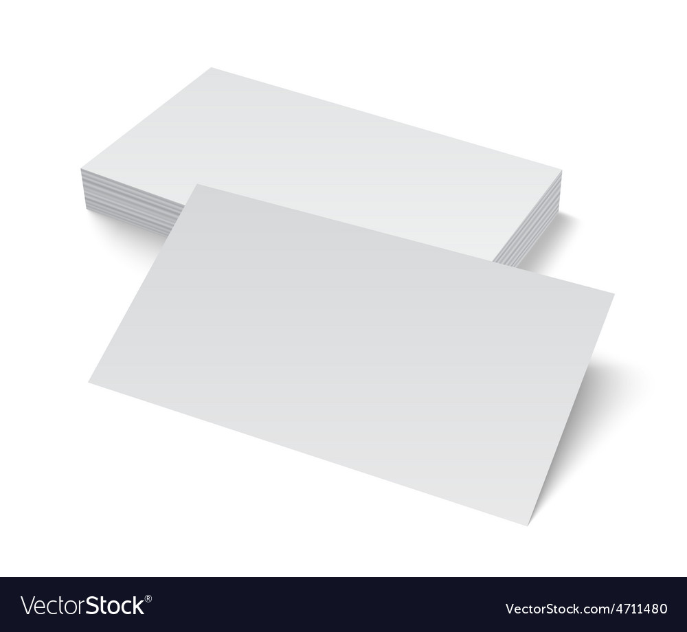 Blank business cards wiring diagrams stack of blank business card on white background vector image rh vectorstock com blank business cards template free blank business cards for sale fbccfo Image collections