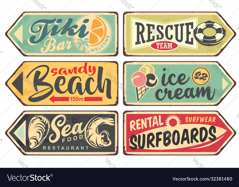 Summer signs vintage collection