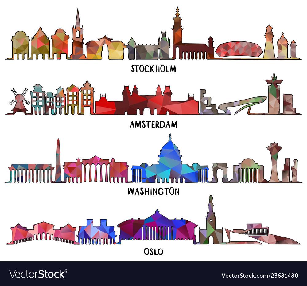 Triangular design stockholm amsterdam washington