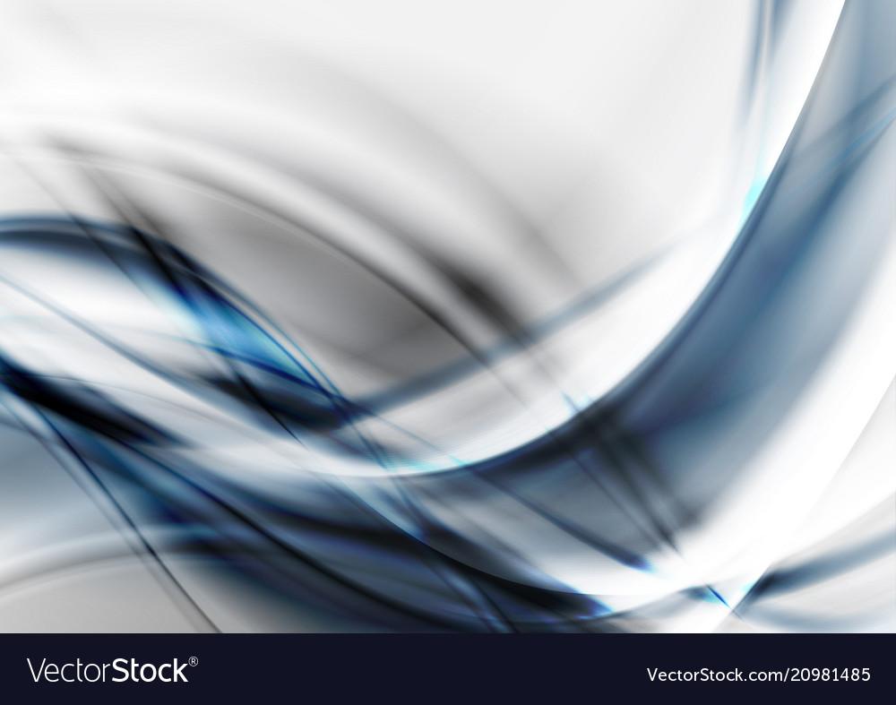 Blue grey tech futuristic wavy background vector image