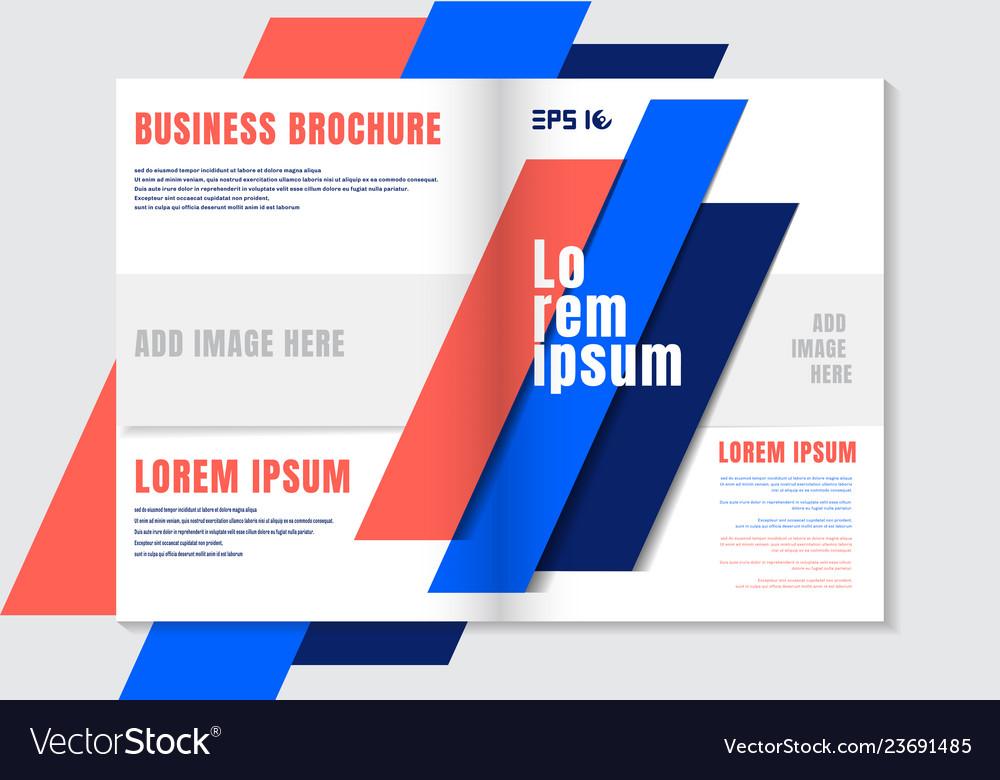 Brochure design template geometric vivid color