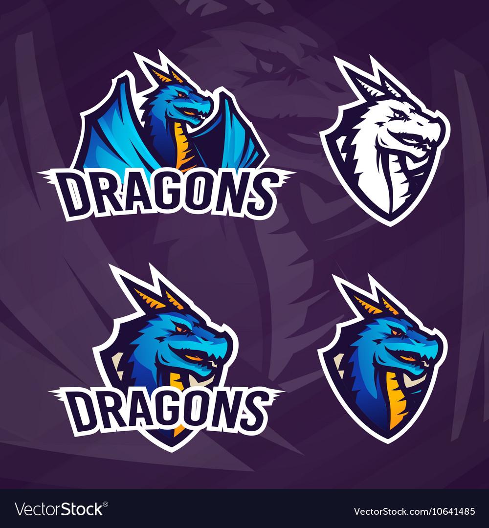 Creative dragon logo template Sport mascot design
