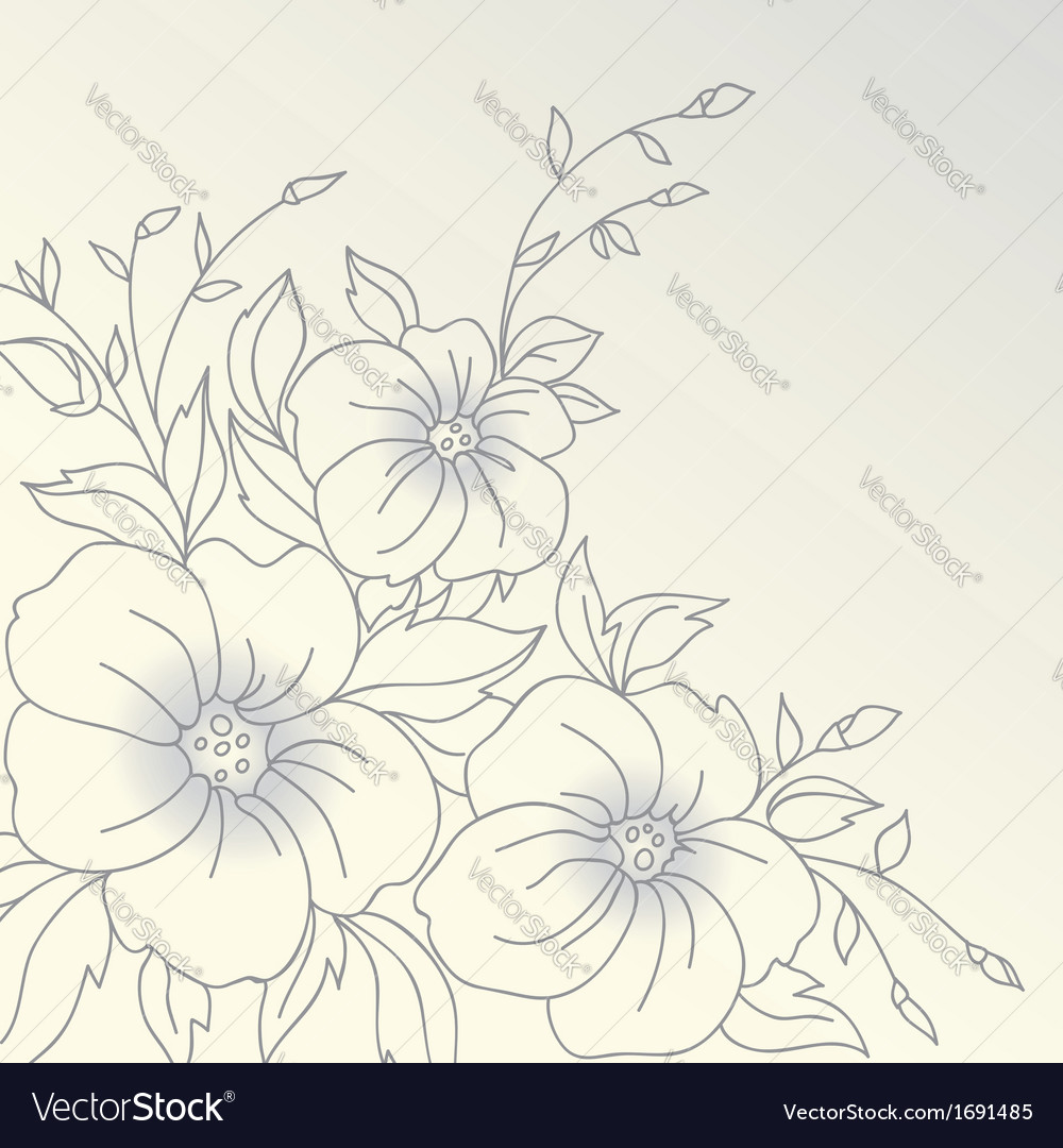 Flowers Hand drawn vector image