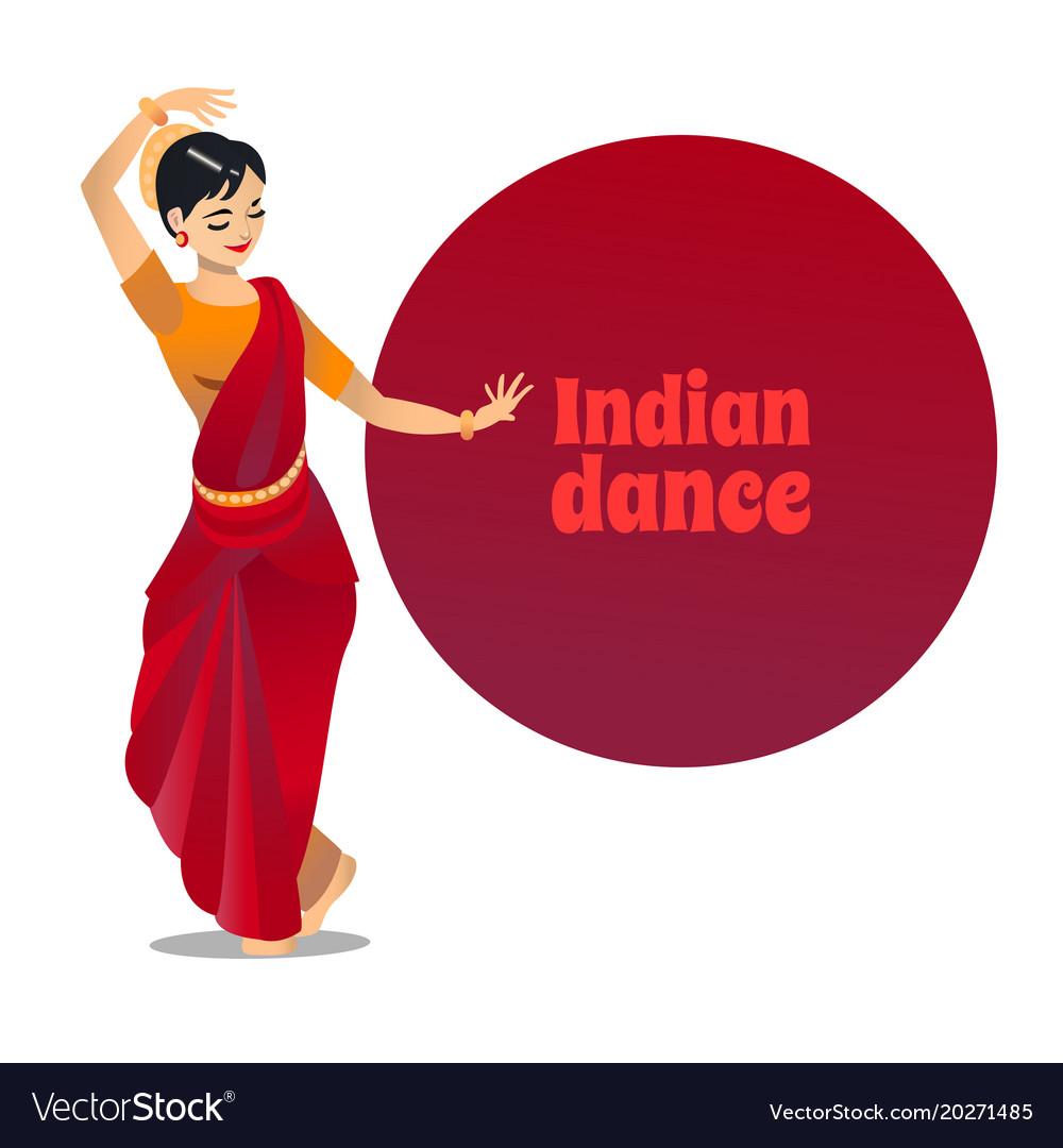 Indian dance in cartoon style