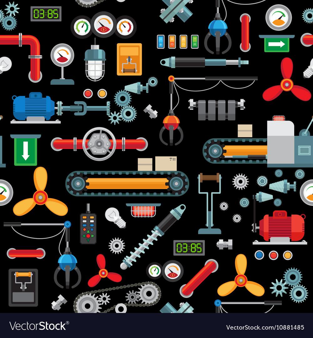 Machinery industrial seamless pattern