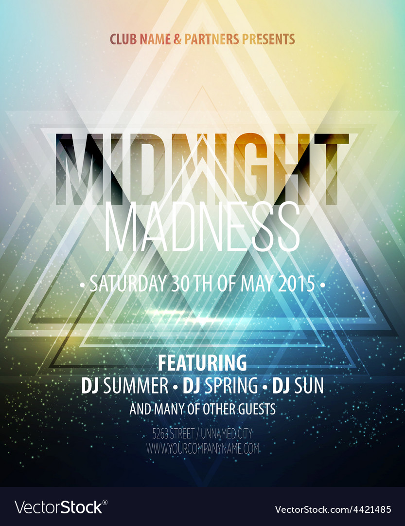 Midnight Madness Party Template poster