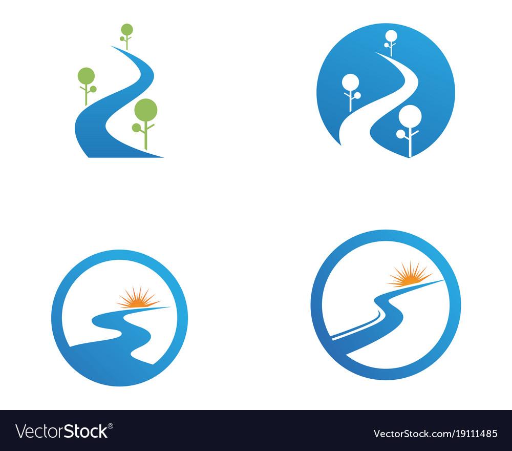 river logo and symbols icons template app vector image vectorstock