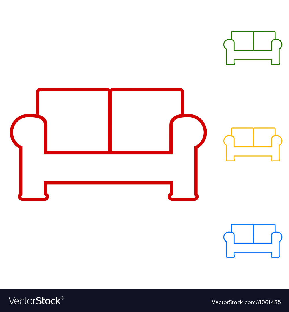 Sofa Set of line icons