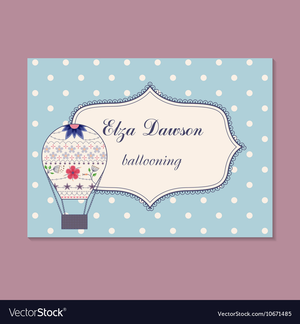 Vintage business card for ballooning