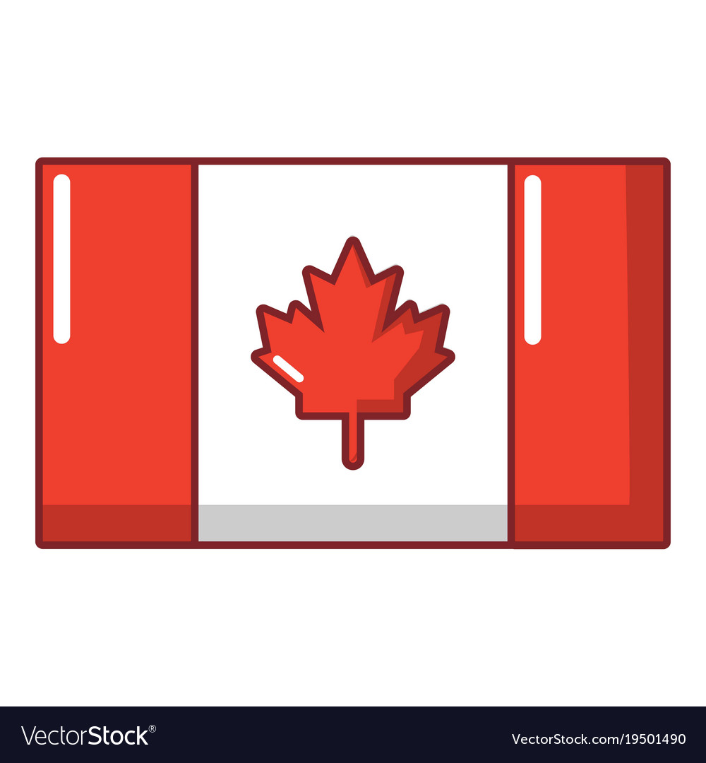 flag canada icon cartoon style royalty free vector image rh vectorstock com