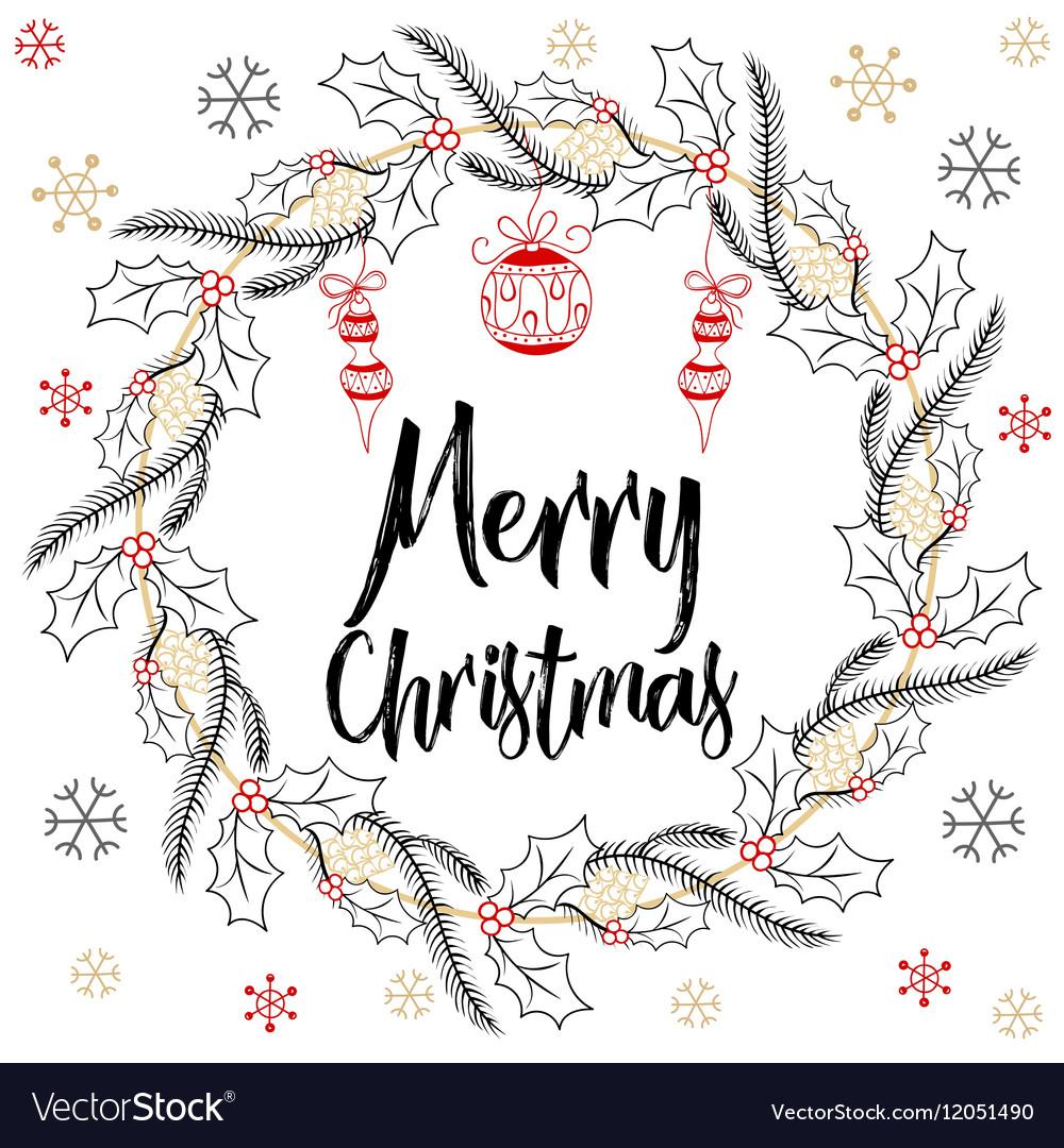Holidays modern calligraphy Merry Christmas Hand