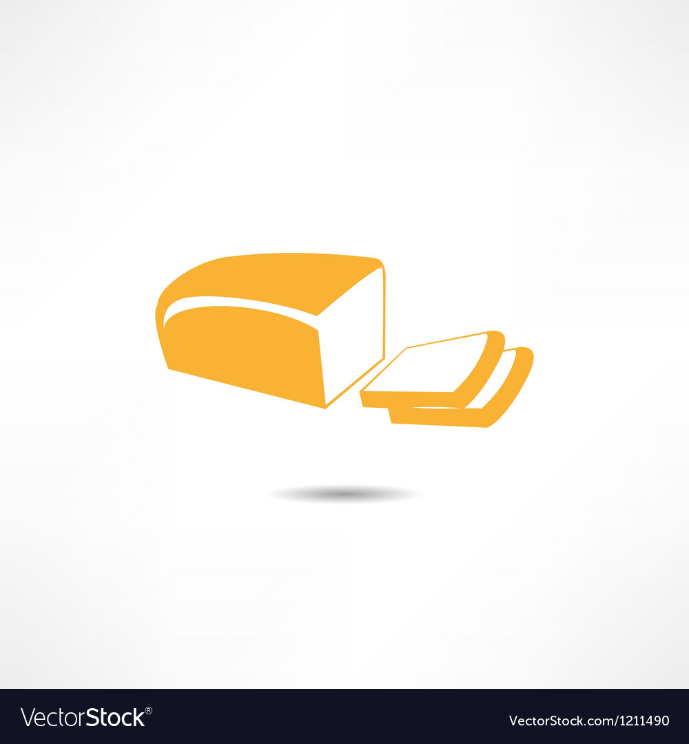 Loaf Of Bread Icon vector image