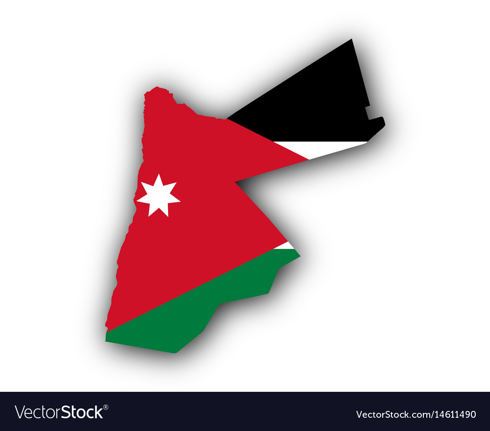 map and flag of jordan royalty free vector image
